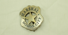 Replica of Dodge City U S Marshal's Badge - $18.95