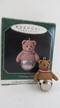 Christmas Hallmark Keepsake 1998 Miniature Bear Christmas Bell Ornament  - $5.89