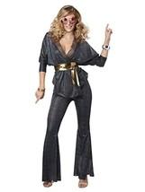 California Costumes Women Disco Dazzler/Adult, Black/Gold, Medium - $47.65