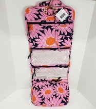 Vera Bradley Hanging Travel Cosmetic Organizer Loves Me  Breast Cancer pink - $48.00