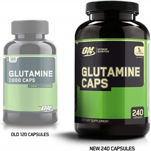 OPTIMUM NUTRITION L-Glutamine Muscle Recovery Capsules, 1000mg, 240 Count  - $56.23