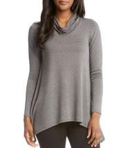 Karen Kane Cowl Neck Handkerchief Hem Top (Dark Gray, L) - $65.24