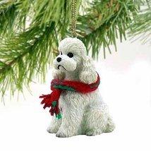 1 X Poodle Sportcut Miniature Dog Ornament - White by Conversation Concepts - $10.99