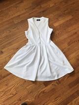 Women' Guess White Lined Sleeveless Dress w/ Pockets Size 8 - $18.69