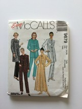 Mccall's 9679 Easy Sewing Pattern Misses Robe Top Pants XXL(24,26) - $9.89
