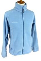 Columbia Women's Full Zip Mock Neck Slightly Fitted Blue Fleece Jacket M... - $19.64