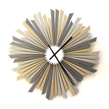 Large size silver / gray wooden wall clock, a piece of wall art - The Si... - $239.00
