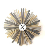 Large sized silver / gray wooden wall clock, a piece of wall art - The S... - $229.00