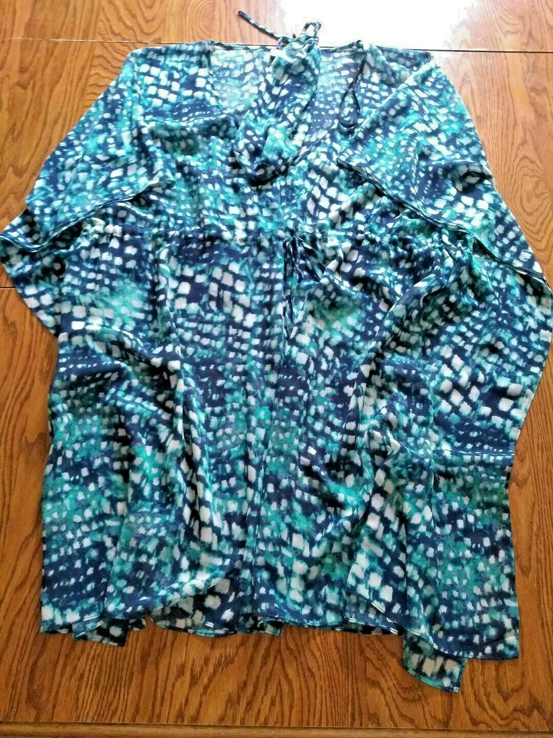 Calvin Klein Multi Color Beach Cover Up Size X Large
