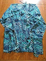 Calvin Klein Multi Color Beach Cover Up Size X Large image 1
