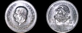 1953 Mexican 5 Peso World Silver Coin - Mexico - $39.99
