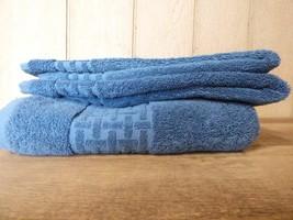 Lauren Ralph Lauren Pierce Towels set (1 bath, 2 hand), Faded Denim - $9.55