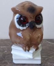 GEROLD PORZELLAN  BAVARIA GERMANY OWL FIGURINE ON BOOKS - $29.00