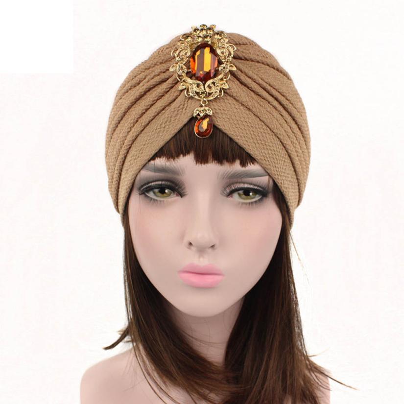 Women Cancer Chemo Hat Beanie Scarf Turban Head Wrap Cap Casquette Female  Gorra 61361471d91