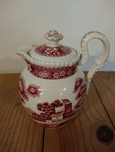 Copeland Spode Tower Cranberry SYRUP PITCHER Old Mark England - $47.49
