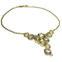 """Swarovski Bijou Necklace Crystal Glass Gold GP Women's 16"""" - £110.24 GBP"""