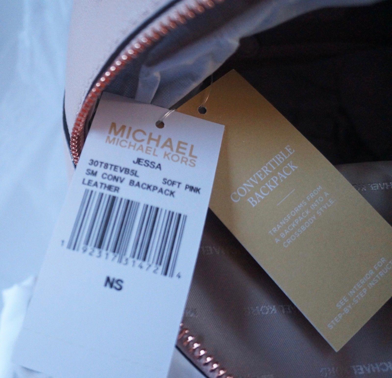 NWT MIchael Michael Kors Jessa Small Convertible Backpack   Soft Pink d313110c85781