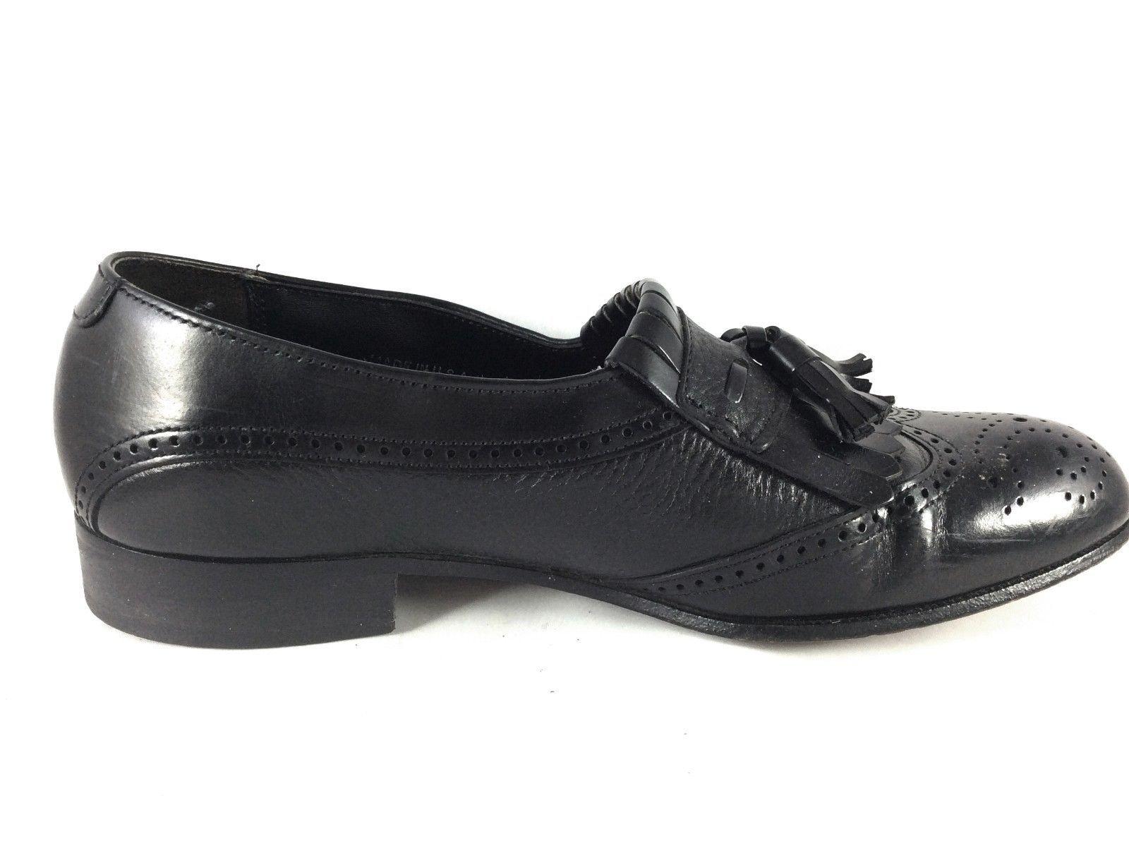 Dexter Men's Black Leather Kiltie Tassel Wingtip Slip On Loafer 436953 size 8.5M