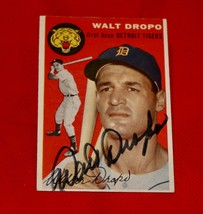 1954 Topps Baseball Card #18 Signed By Walt Dropo - $14.84