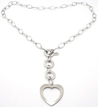 925 Silver Necklace Chain Oval, circles and Heart, Pendants, Satin image 1