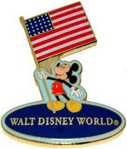 Patriotic USA Mickey Holding USA Flag Authentic Disney  Pin/Pins - $24.99