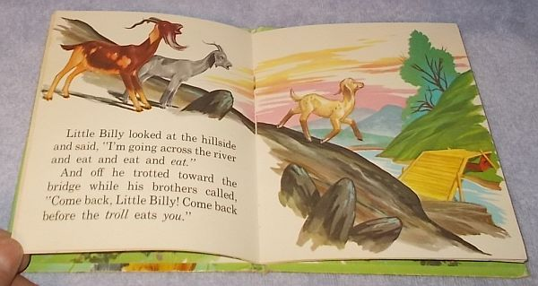 Tell A Tale Children's Book Three Billy Goat Gruff 1954 Leej Ames Illustrator