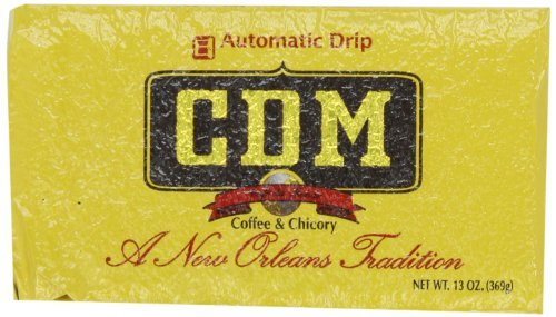 CDM Coffee and Chicory, Regular Grind, 13-Ounce Bricks Automatic Drip Pack of 4