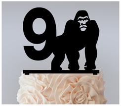 9th Birthday Anniversary Cake topper,Cupcake topper,silhouette king kong 11 pcs - $20.00