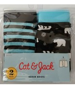 Set of 2 Cat & Jack Boys Boxer Briefs Underwear Underpant Size Medium Po... - $4.95