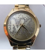 Michael Kors Women's Slim Runway Logo Gold-Tone Watch MK3590 - $108.90