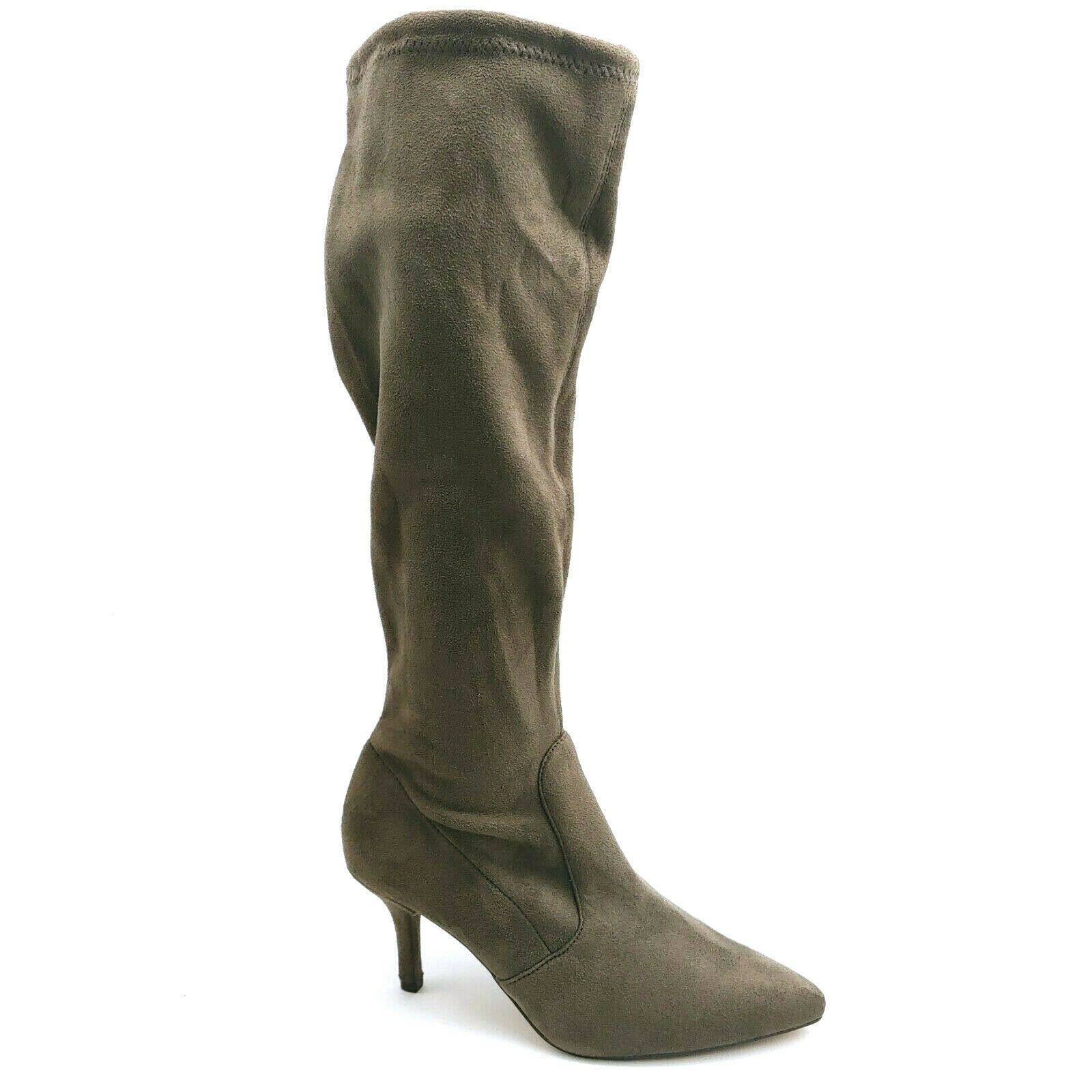 Primary image for Vince Camuto Womans Ashlina High Heel Knee High Boot Brown Side Zip Sz 7.5 M NEW
