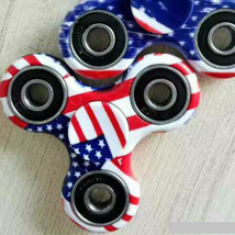 USA American Flag Fidget Spinner EDC Torqbar Toys - 1x w/Random Color and Design image 2