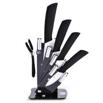 6 in 1 Sharp Kitchen Ceramic Knives Kit with Peeler Holder - $39.99