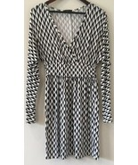 Tart Women's Dress Size Small Black White Geometric Print Long Sleeve Su... - $39.60