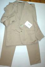 New Mens 42 RG NWT Designer Piombo Suit Beige Tan Italy 54 Cotton 36 35 ... - $652.05