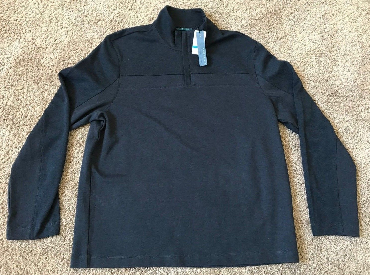 Primary image for NEW PERRY ELLIS 1/4 1/2 ZIP SWEATER TOP DARK SAPPHIRE NWT MENS XL NAVY BLUE