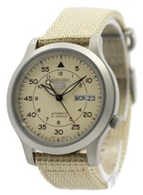 Seiko 5 Military Automatic Nylon Strap Snk803k2 Men's Watch - $105.00