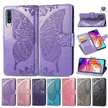 Case For Samsung S21 A12 A02S M51 A01 A11 M31 Butterfly Leather Wallet C... - $63.45