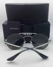 New PRADA Sunglasses SPR 63T 1AB-2B0 55-19 Silver & Black Frame w/ Silver Mirror - $299.95