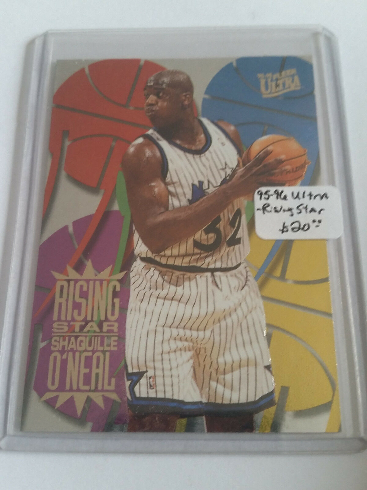 Primary image for 1995-96 Ultra Rising Stars #6 Shaquille O'Neal - Orlando Magic