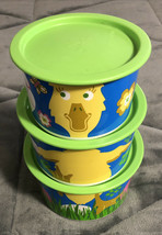 New Tupperware Canister Set Easter Bunny/Duck One Touch Seals #2707 2708 2709 - $19.79
