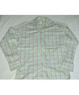 Peter Millar Multicolor Gingham Plaid Mens Casual Long Sleeve Button Shi... - $39.48