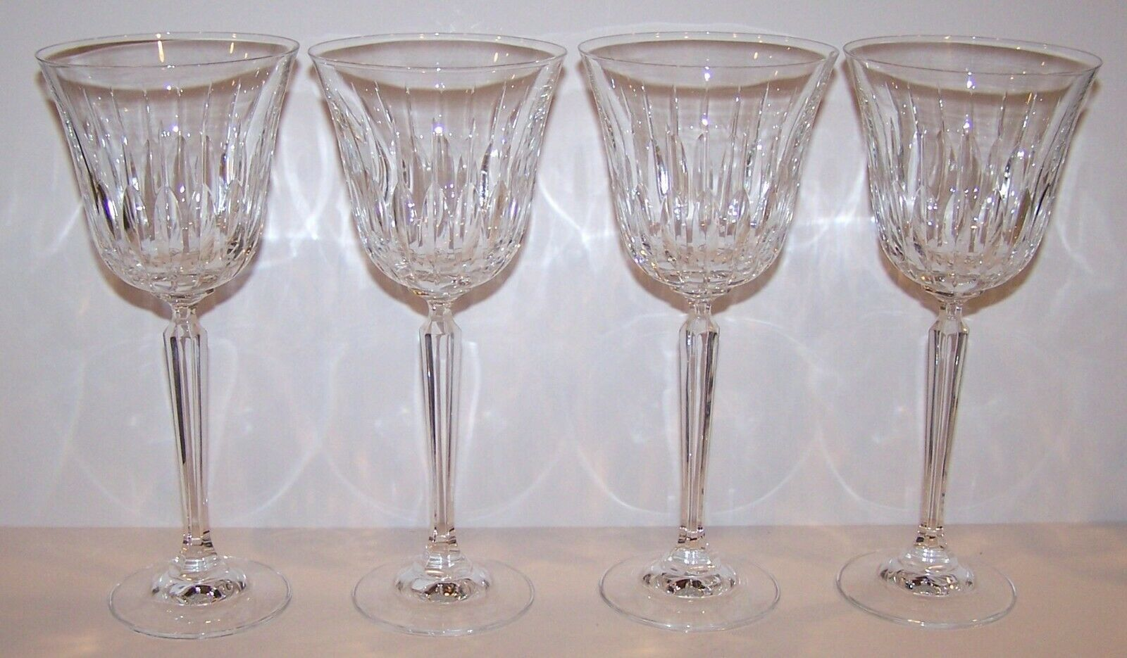 "Primary image for STUNNING SET OF 4 MIKASA CRYSTAL PARK AVENUE 8 3/8"" WATER GOBLETS"