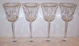 "STUNNING SET OF 4 MIKASA CRYSTAL PARK AVENUE 8 3/8"" WATER GOBLETS - $54.69"