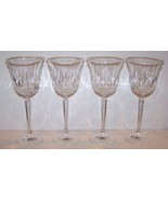 """STUNNING SET OF 4 MIKASA CRYSTAL PARK AVENUE 8 3/8"""" WATER GOBLETS - $54.69"""
