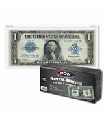 8 Packs (400) BCW Semi Rigid Large Bill Holder - $60.15