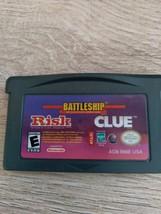 Nintendo Game Boy Advance GBA Battleship/Risk/Clue image 2