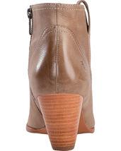Frye Women's Reina Ash Grey Leather Western Ankle Bootie 3479258-ASH NIB image 3