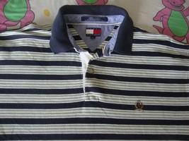 Vintage Tommy Hilfiger White  w/ Stripes Polo Shirt Men's Size XL - $17.81