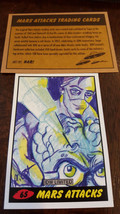 2014 Topps Idw Limited Mars Attacks Reprint Sketch Card Apricot Mantle # 65 - $9.89